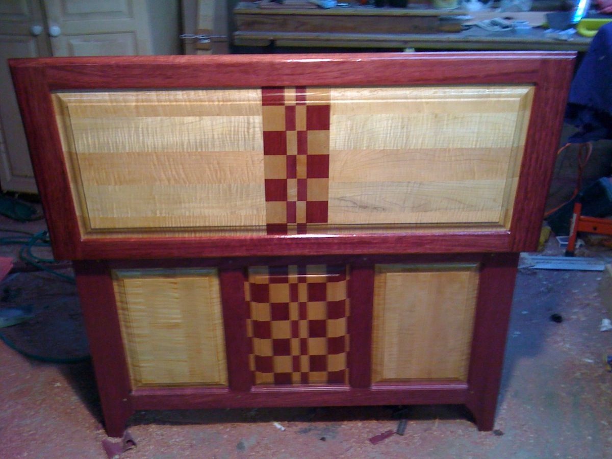It. Purpleheart Hope Chest   A Study in Color   The Wood Whisperer