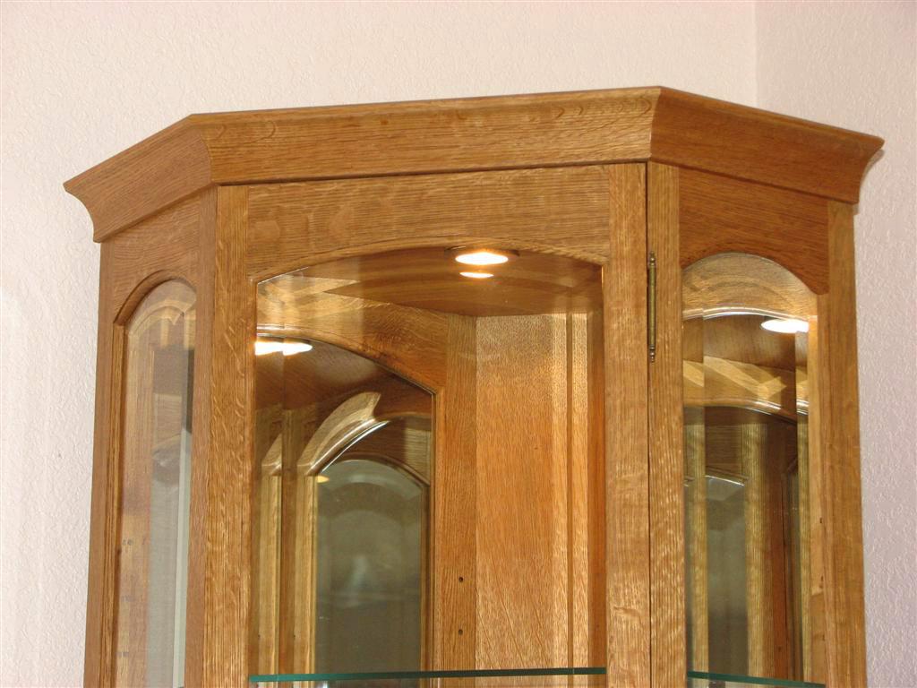 Corner Curio Cabinet Plans   MF Cabinets