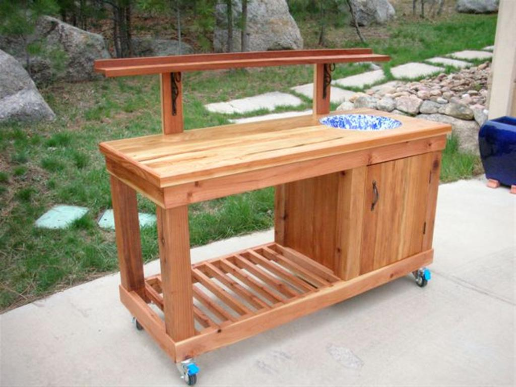 Ed 39 s potting bench the wood whisperer Potting bench ideas