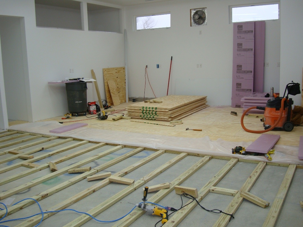 How To Install A Plywood Floor The Wood Whisperer