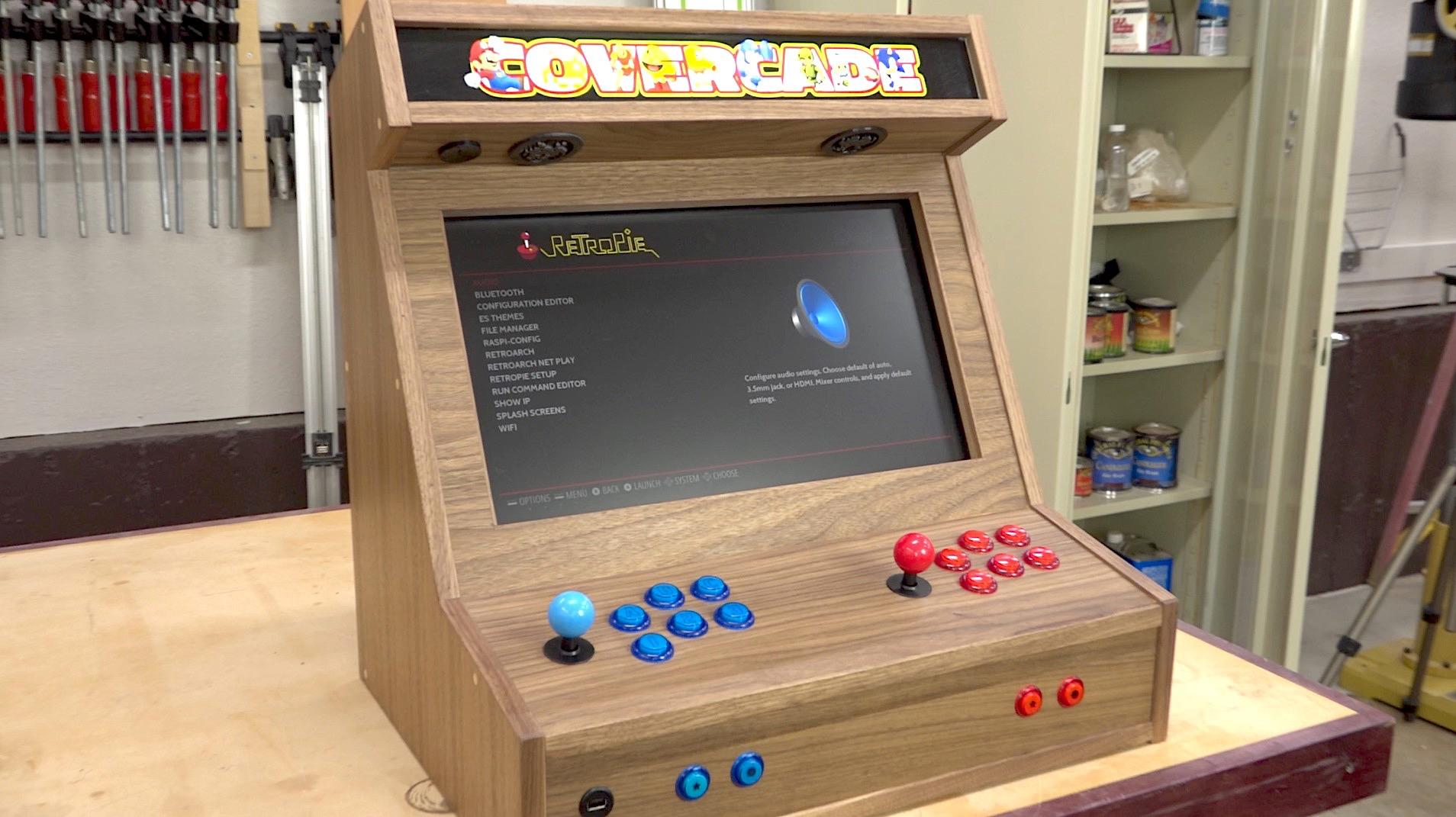 Groovy Bartop Arcade W Raspberry Pi The Wood Whisperer Download Free Architecture Designs Lukepmadebymaigaardcom