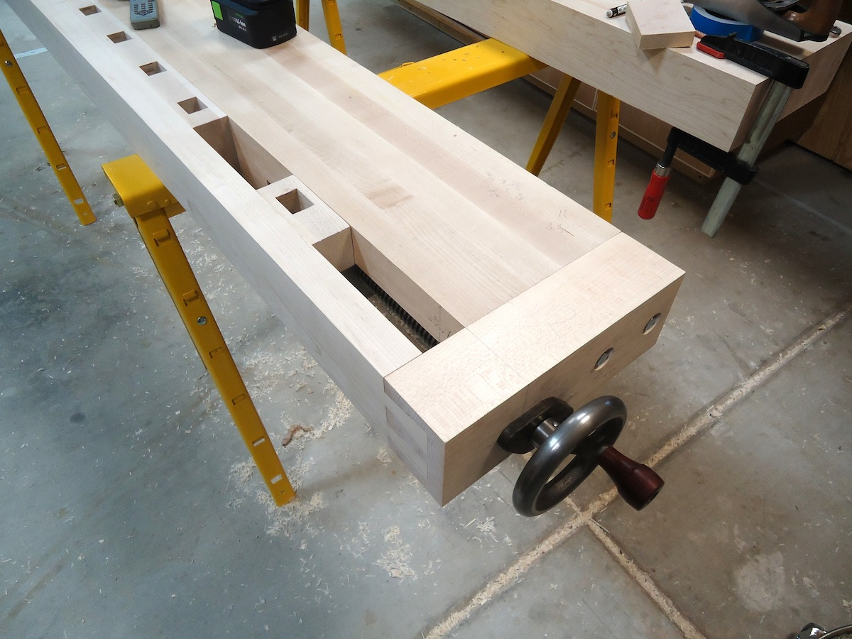 Roubo Dog Strip Dovetails And Tail Vise The Wood Whisperer