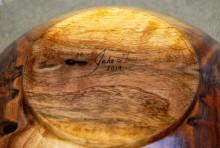 Jake Guy Signed Walnut Bowl Bottom