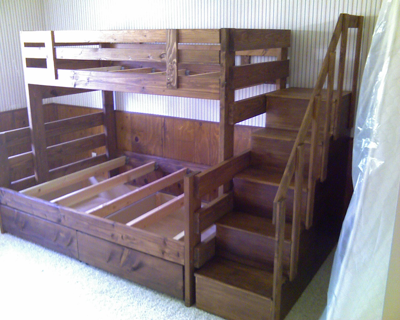 Bunk Beds Diy, Bunk Beds With Stairs, Diy Bunk Beds For Girls Room ...