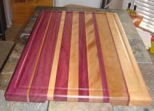 Big Purpleheart and Maple Cutting Board