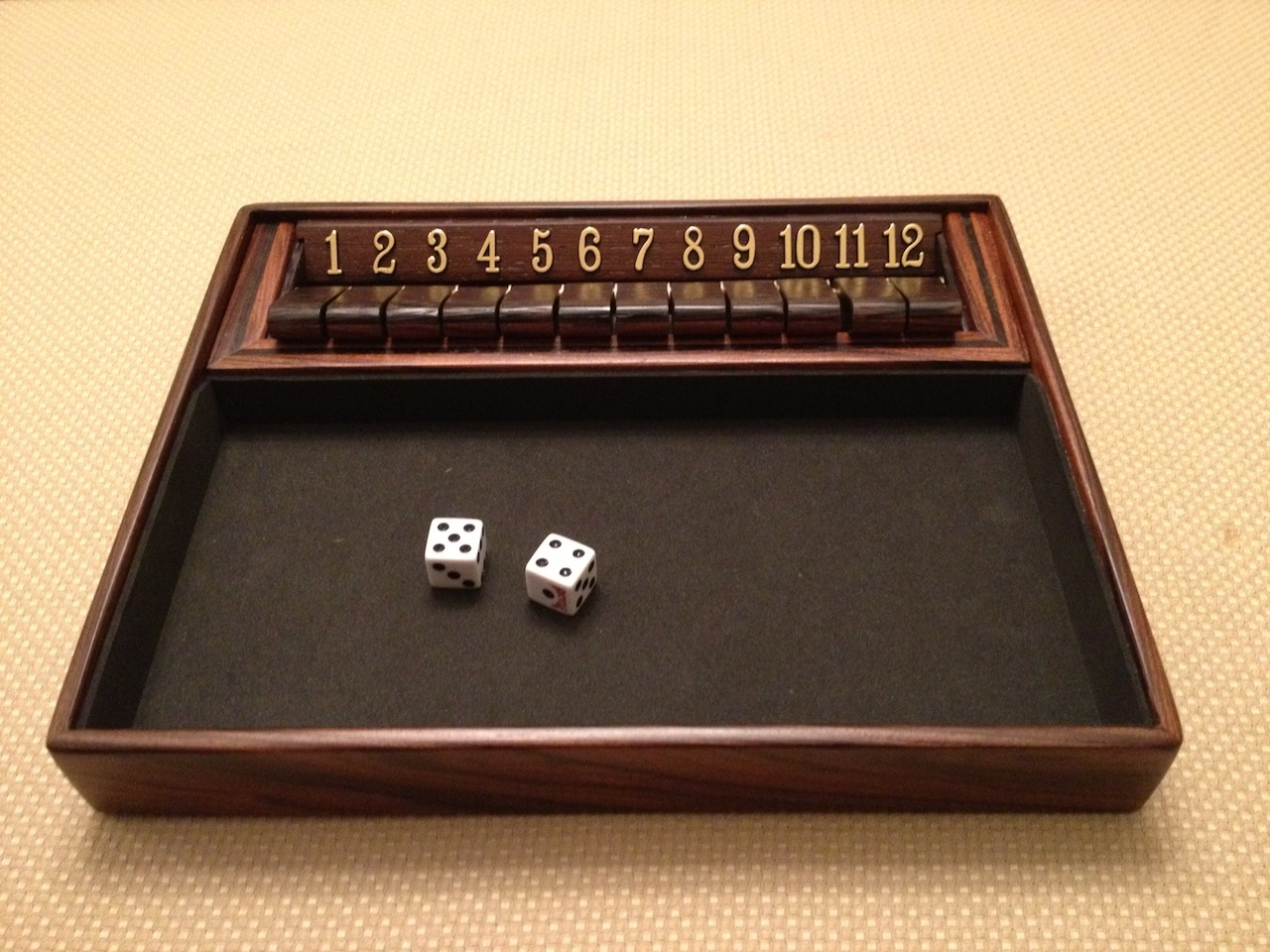 chad's shut the box game - the wood whisperer