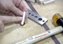 Drawbore Pegs Made With a Dowel Plate
