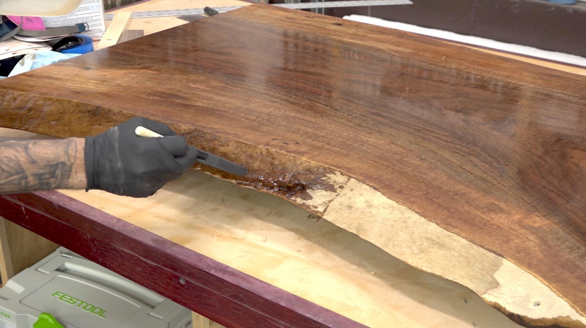 Live Edge Slab Coffee Table The Wood