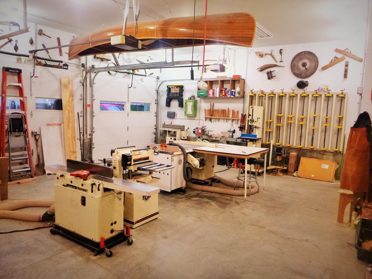 garrett's garage wood shop - the wood whisperer