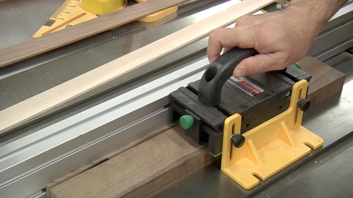 Cutting Thin Strips at the table saw