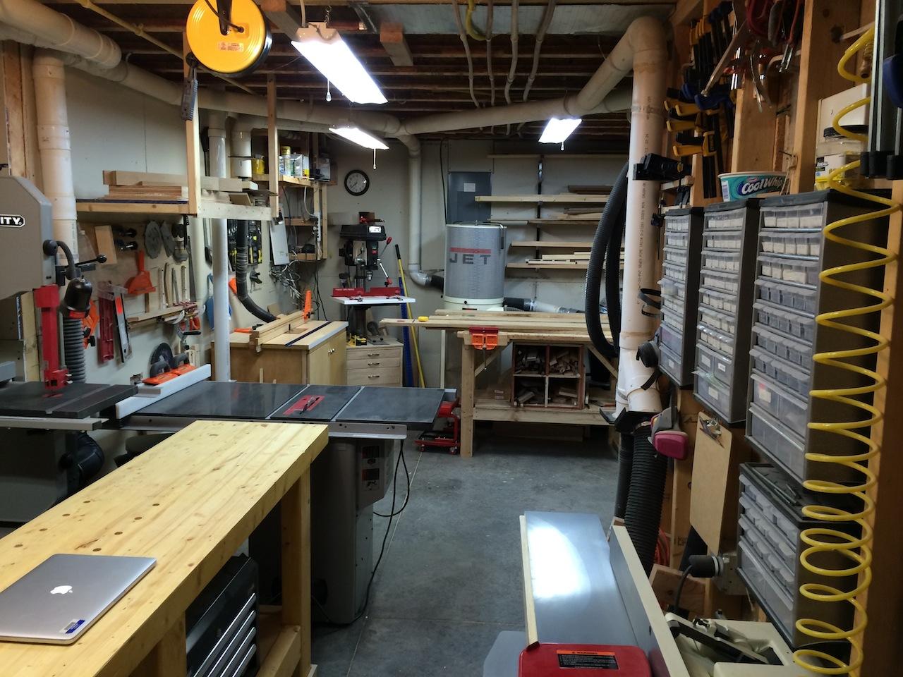John S Basement Workshop The Wood Whisperer