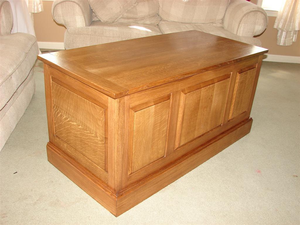 keith's white oak blanket chest - the wood whisperer