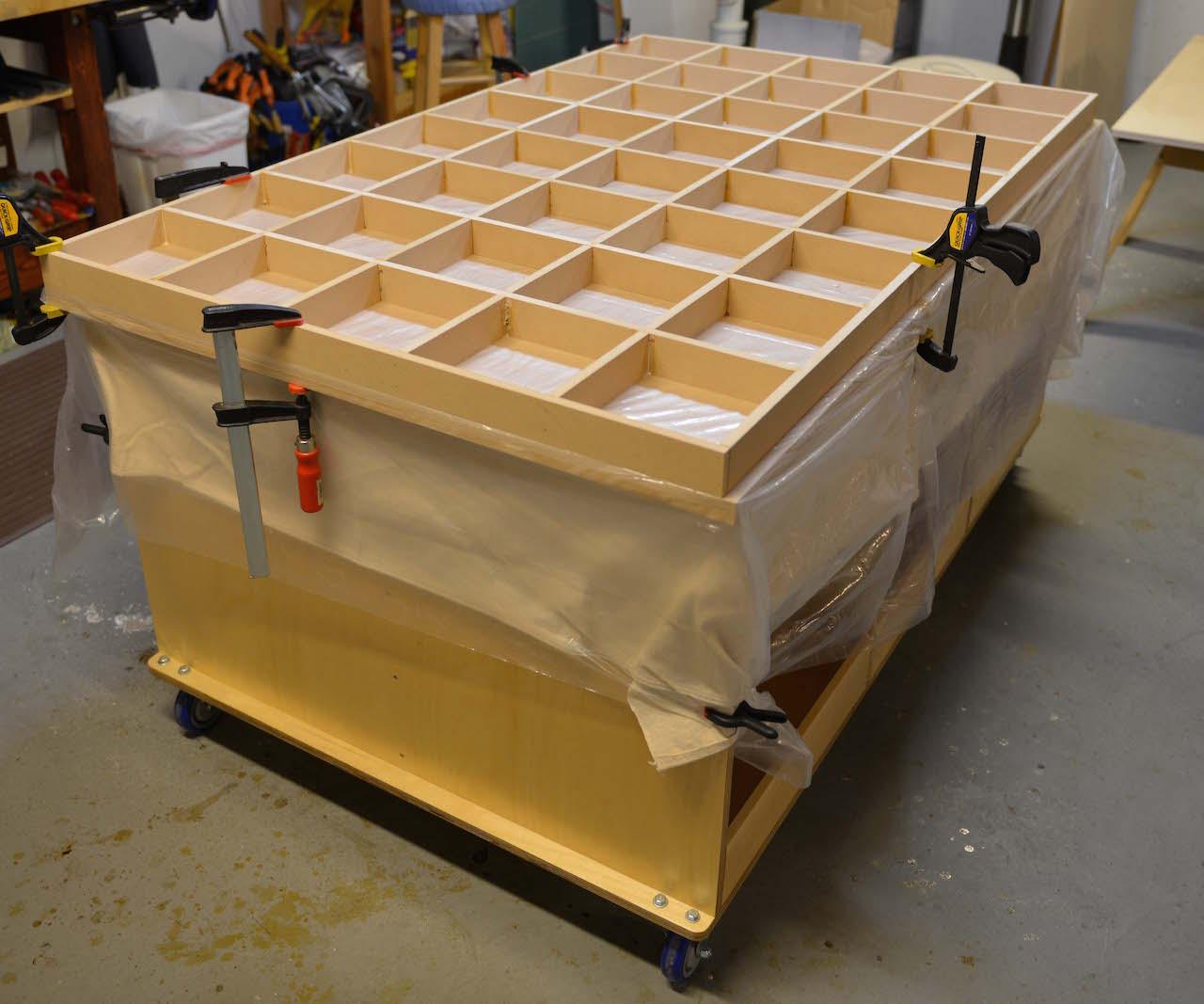 Ken S Mobile Torsion Box Assembly Table The Wood Whisperer