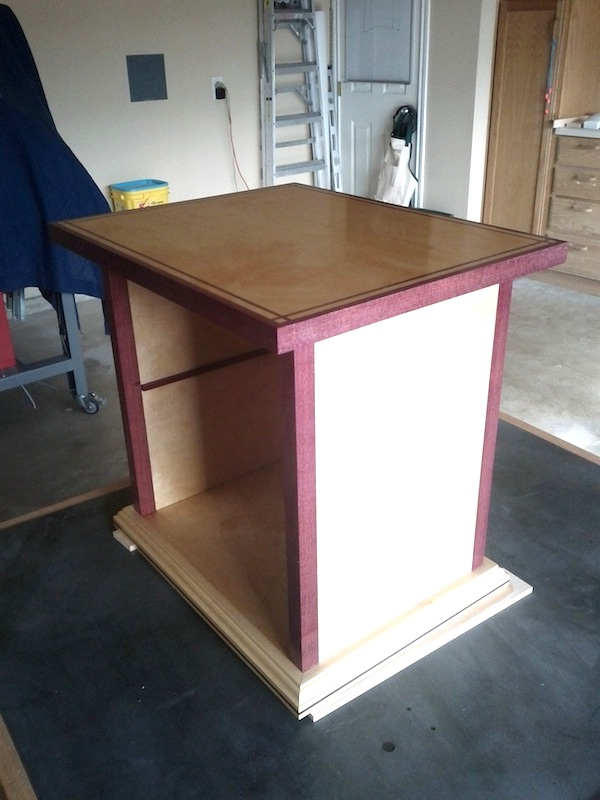 Peachy Kirks Purpleheart Accented End Table The Wood Whisperer Interior Design Ideas Gresisoteloinfo