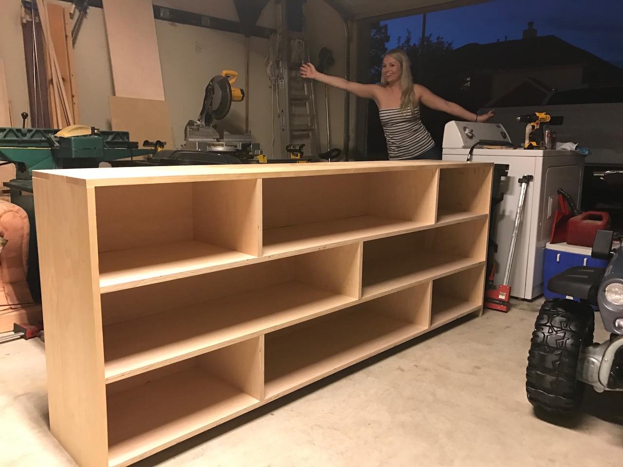 Lee S Horizontal Bookcase The Wood Whisperer