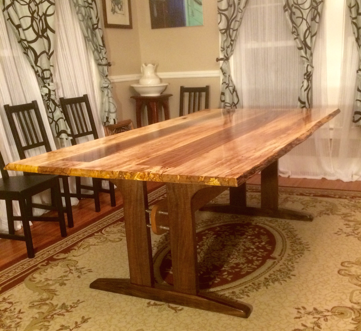 Logan\'s Live Edge Spalted Maple Dining Table - The Wood ...