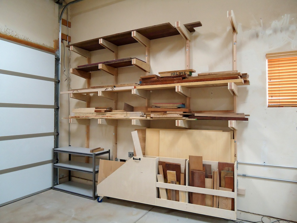 Rolling wood storage rack plans quick woodworking projects for Lumber yard storage racks