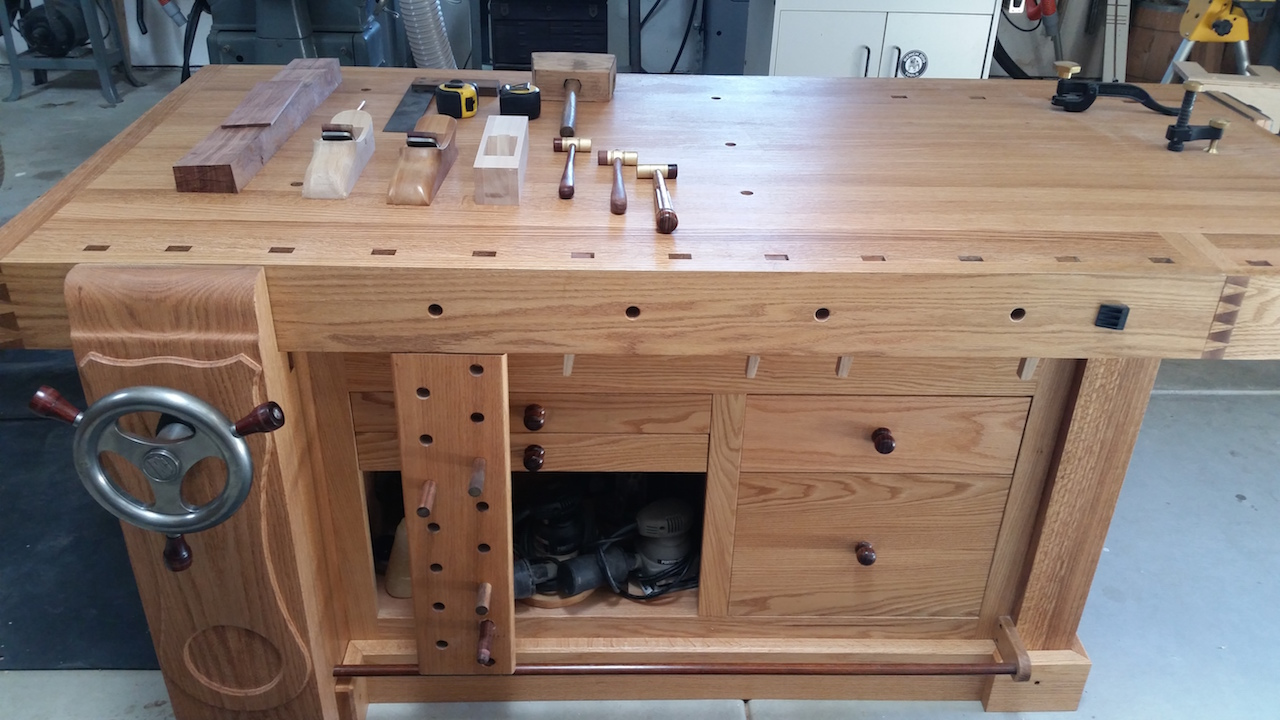 Remarkable Marks Shaker Workbench The Wood Whisperer Pabps2019 Chair Design Images Pabps2019Com