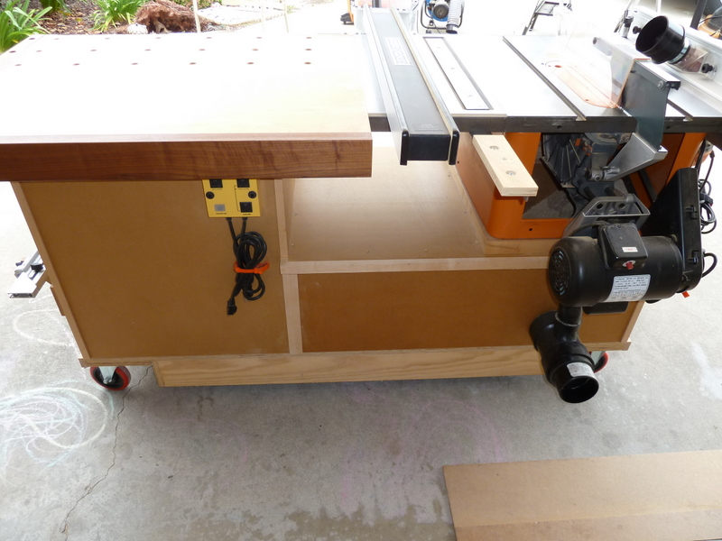 Stupendous Phils Tablesaw Work Station The Wood Whisperer Home Interior And Landscaping Synyenasavecom