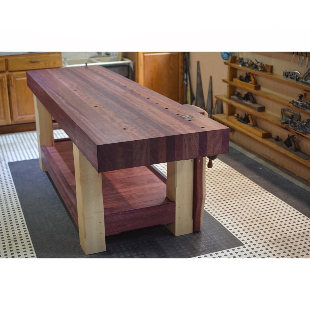 Sensational Ryans Purpleheart And Maple Workbench The Wood Whisperer Pabps2019 Chair Design Images Pabps2019Com