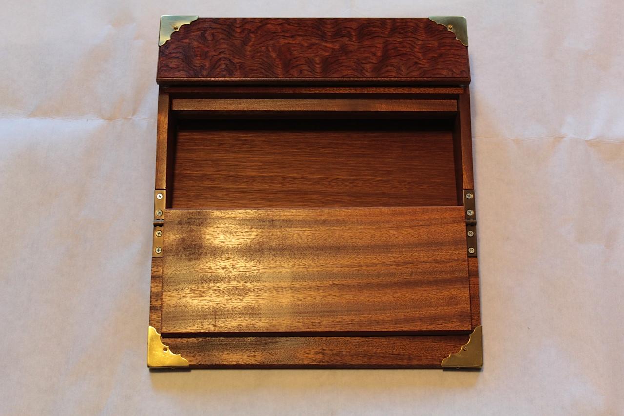 nicholas' vintage writing slope - the wood whisperer