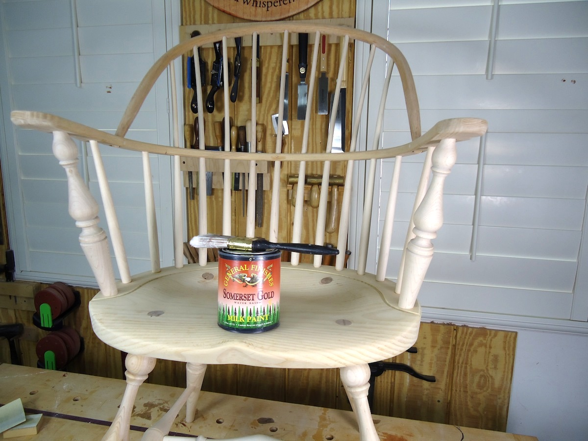 Fine Windsor Chair Painting The Wood Whisperer Squirreltailoven Fun Painted Chair Ideas Images Squirreltailovenorg