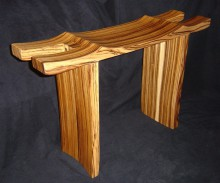 zebrawood_contemplation_bench